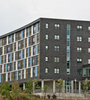 Marley Textura finish system, Redstone Lofts, University of Vermont, Burlington, Vermont